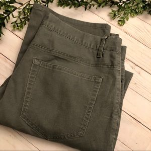 Kenneth Cole army green pants 34/34